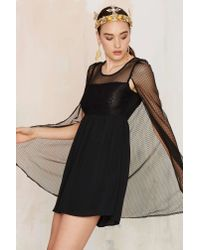 Nasty Gal | Cape Bod Mini Dress - Black | Lyst