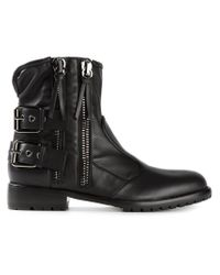 Giuseppe Zanotti - Black Side Zip Fastening Boots for Men - Lyst