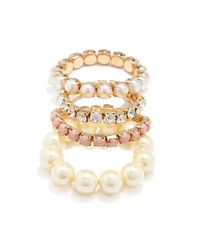 Forever 21 | Metallic Faux Pearl Bracelet Set You've Been Added To The Waitlist | Lyst