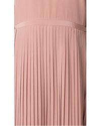 Tibi - Pink Silk Pleated Halter Dress - Lyst