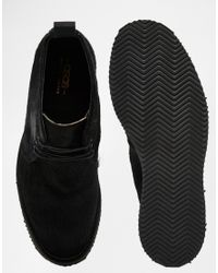 ASOS - Black Chukka Boots In Pony Effect Made In England for Men - Lyst