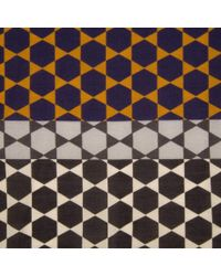 Paul Smith - Brown And Navy 'Moroccan Tile' Print Silk-Blend Scarf for Men - Lyst