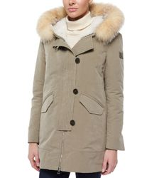 Peuterey - Brown Loftus 2-n-1 Coat W/ Fur-trim-hood & Detachable Liner - Lyst