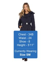 Cole Haan | Blue Down Peacoat With Removable Hood | Lyst