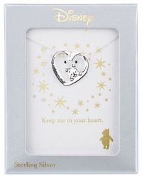 Disney | Metallic Heart Pooh Pendant Necklace In Sterling Silver | Lyst