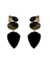 Bounkit | Black Onyx & Labradorite Drops | Lyst
