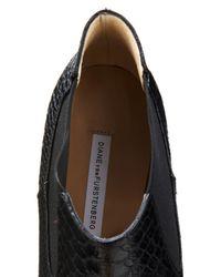 Diane von Furstenberg | Black Holter Snake-Effect Leather Ankle Boots | Lyst