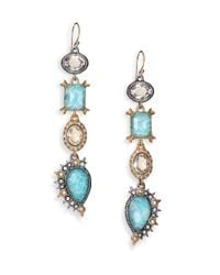 Alexis Bittar | Multicolor Elements Moonlight Amazonite & Crystal Studded Spur Drop Earrings | Lyst