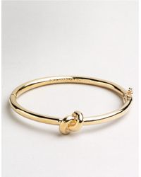 kate spade new york | Metallic Sailor's Knot Bangle | Lyst