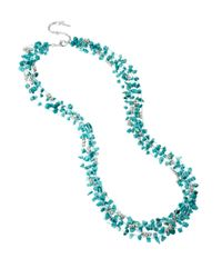 Kenneth Cole | Blue Turquoise Chip Multi-Row Necklace | Lyst