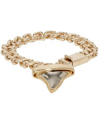 Givenchy - Metallic Gold Shark Tooth Bracelet - Lyst