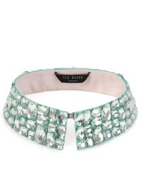 Ted Baker | Green Threed Beaded Collar for Men | Lyst