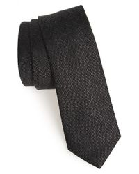 Calibrate - Black 'phuket Island' Woven Silk Blend Tie for Men - Lyst