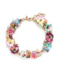 J.Crew | Multicolor Blooming Sequin Paillette Necklace | Lyst