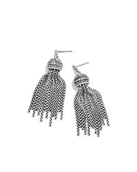 David Yurman | Metallic Tassel Earrings With Diamonds | Lyst