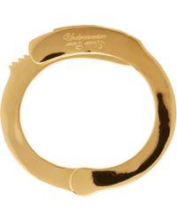 Undercover | Metallic Gold Handcuff Bracelet | Lyst