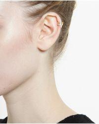 Yvonne Léon - Metallic 18K Gold And Diamond Helix Earring - Lyst