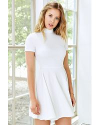 Silence + Noise - White Mock-neck Dress - Lyst