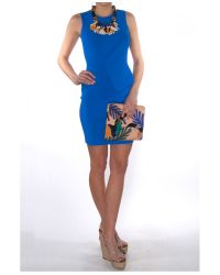 Alexander Wang - Blue Asymmetric Wrap Peplum Dress - Lyst