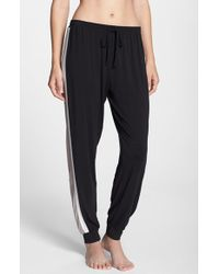 DKNY | Black Tapered Stripe Pants | Lyst