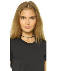 Eddie Borgo | Metallic Extra Thin Safety Chain Choker | Lyst