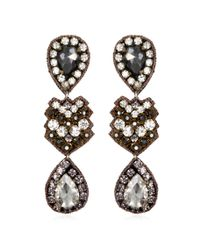 Suzanna Dai | Zocalo Drop Earrings, Black Diamond/crystal | Lyst