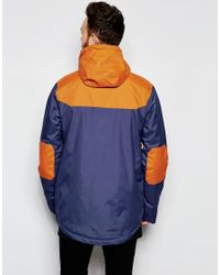 Clwr | Blue Waterproof Jacket With Contrast Shoulders for Men | Lyst