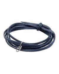 Dalla Nonna | Blue Little Letter Wrap Bracelet In Rose Gold | Lyst