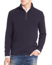 Polo Ralph Lauren - Blue Half-zip Pima Cotton Pullover for Men - Lyst