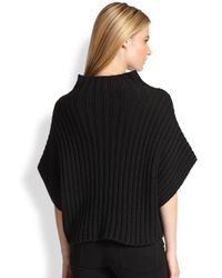 Ralph Lauren Black Label - Black Cashmere Funnelneck Sweater - Lyst
