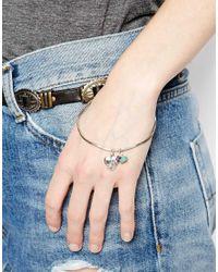 Sam Ubhi - Green Heart Locket Charm Bracelet - Lyst