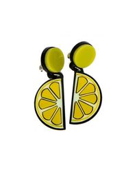 Yazbukey | Yellow Lemon Earring | Lyst