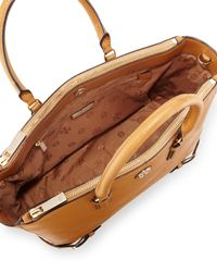 Tory Burch - Brown Robinson Leather Tote - Lyst