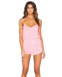 Wildfox | Pink Pool Party Romper | Lyst