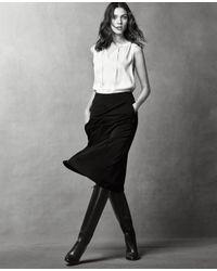 Ann Taylor | Blue Pleat-front Midi Skirt | Lyst