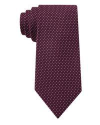 DKNY | Purple Silk Micro Dot Tie for Men | Lyst
