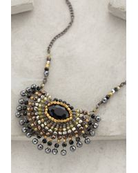 Anthropologie - Gray Radial Necklace - Lyst