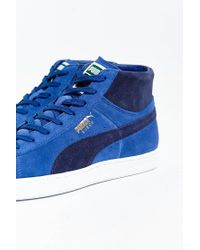 PUMA | Blue Suede Mid Classic Sneaker for Men | Lyst