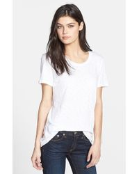 Rag & Bone | White 'the Classic' Slub Cotton Tee | Lyst