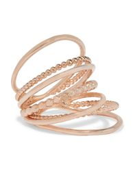 Arme De L'Amour - Pink Rose Gold-plated Ring - Lyst