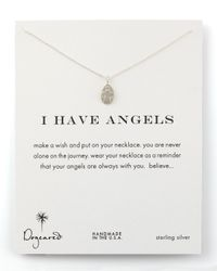 Dogeared | Metallic I Have Angels Necklace | Lyst