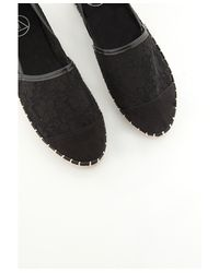 Missguided - Lace Espadrille Black - Lyst