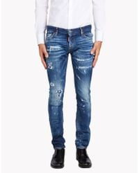 DSquared² | Blue Slim Jeans for Men | Lyst