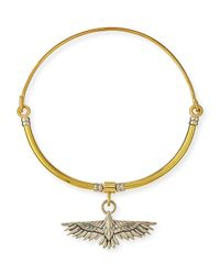 Pamela Love | Metallic Aguila Collar Necklace With Pendant | Lyst