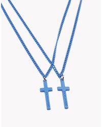 DSquared² | Blue Jesus Necklace for Men | Lyst