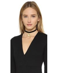 Vanessa Mooney | Metallic Lillian Choker Necklace - Black/gold | Lyst