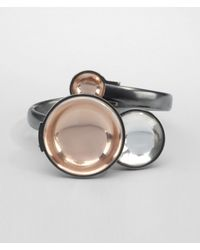 Bottega Veneta - Metallic Oro Rosa Rock Crystal Burnished Silver Bracelet - Lyst