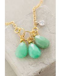 Indulgems | Blue Ternary Drop Necklace | Lyst