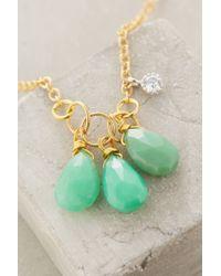 Indulgems - Blue Ternary Drop Necklace - Lyst