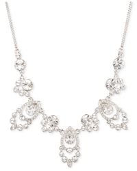 Givenchy | Metallic Silver-tone Crystal Frontal Necklace | Lyst